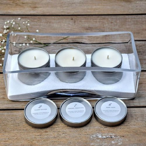 Glass Trough & Soy Tin Candle Set